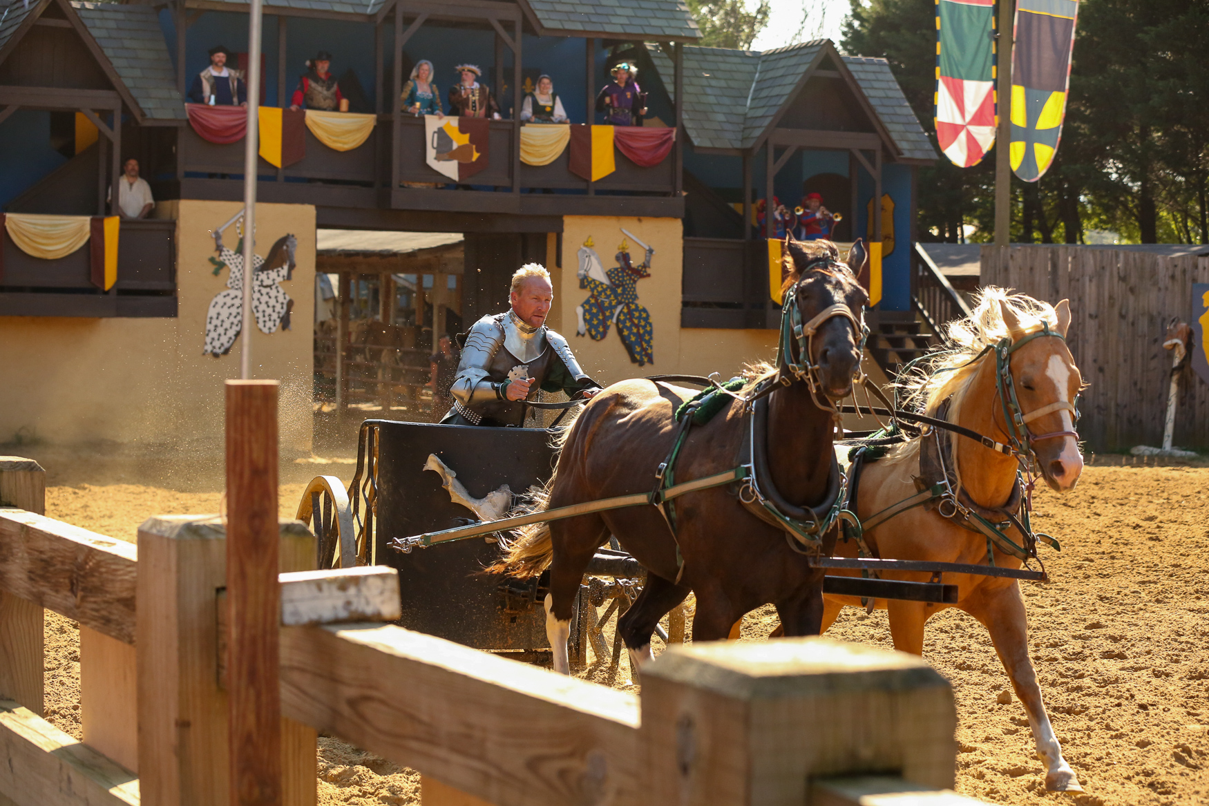 The Maryland Renaissance Festival is back, bringing history nerds, fantasy lovers and people who just want a break from reality together over turkey legs and flower crowns.{ } The festival, which will run Saturday and Sunday until October 21, features attractions ranging from magic shows to jousting. (Amanda Andrade-Rhoades/DC Refined)