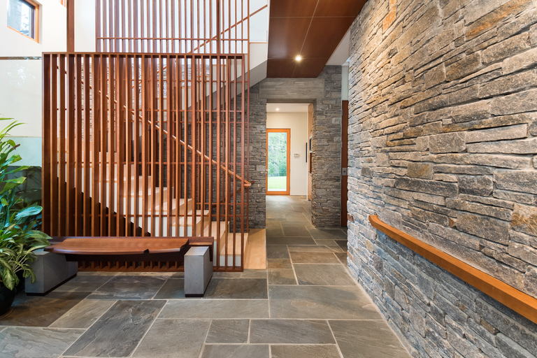 Designed by celebrated architect, Mark McInturff, FAIA., this inspiring modern home combines architectural details that blur pragmatic lines with a level of artistry scarcely found in our region. Boasting approximately 6,000 square feet of warm, open living spaces made of natural stone and wood materials throughout, one feels transported to a relaxing sun-filled retreat. It is a masterpiece, located in one of McLean, Virginia's most coveted neighborhoods. (Image: Courtesy Contemporary Listings)<p></p>