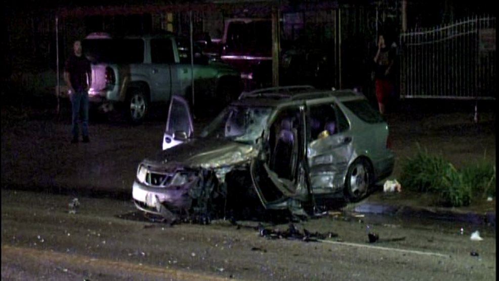 police searching for suspect in head on car crash three people