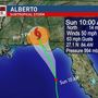 Alberto impacting South Florida and headed toward the Panhandle