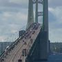 Hundreds of antique tractors ready to cross the Mackinac Bridge for annual event