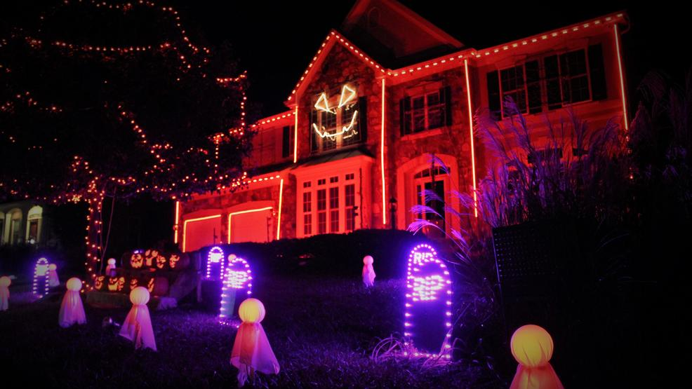 thousands of lights and computer animation make for a spectacularly spooky show at this leesburg virginia home better yet its all set to music playing