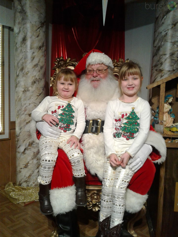 Seeing Santa in Frankenmuth. Photo courtesy of Gabby Manning.