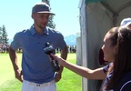 Golden State Warriors guard Steph Curry talks with News 4's Gianna Giorgi.