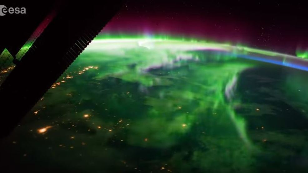 ISS shows stunning video of Northern Lights after passing over Northwest