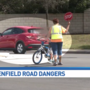 Parents upset with speeding drivers on Shaenfield Road