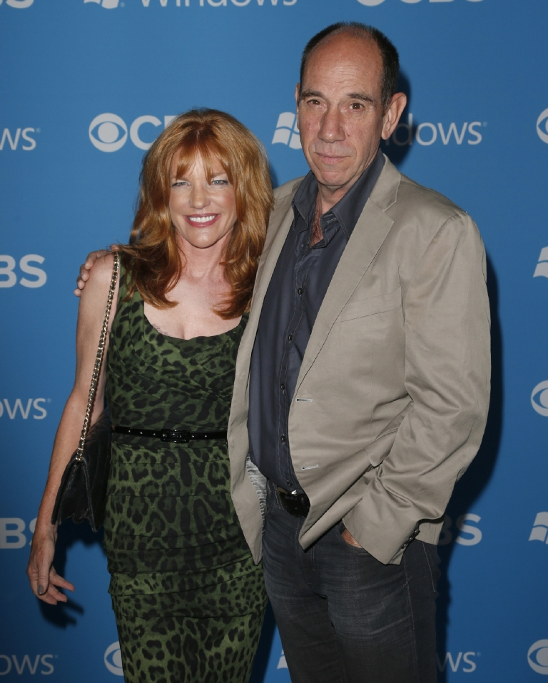 "FILE - This Sept. 18, 2012 file photo shows Lori Weintraub, left, and actor Miguel Ferrer at the CBS 2012 Fall Premiere Party in West Hollywood, Calif. Ferrer, who brought stern authority to his featured role on CBS' hit drama ""NCIS: Los Angeles"" and, before that, to ""Crossing Jordan,"" died, Thursday, Jan. 19, 2017, of cancer at his Los Angeles home. He was 61. (Photo by Todd Williamson/Invision/AP, File)"