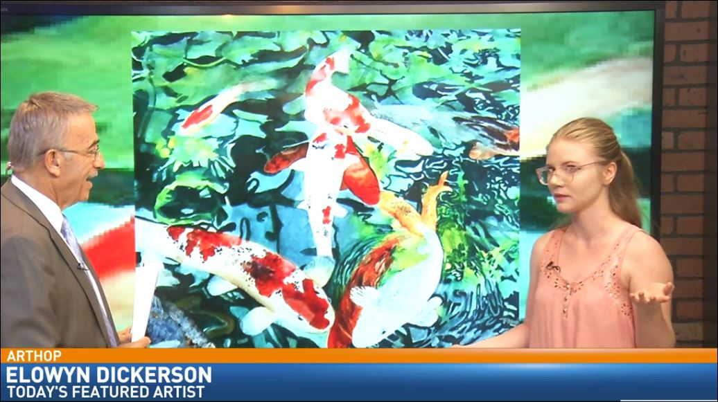 Local artist Elowyn Dickerson on Great Day talking about Fresno ArtHop