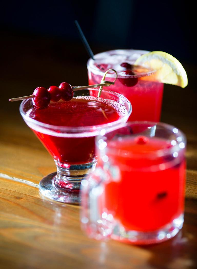 The washington apple is one of the flavour cocktails served at the Salt Hotel and Pub that features the organic cranberries of the local Starvation Alley Farms. (Sy Bean / Seattle Refined)