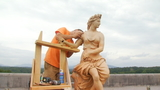 Repairs being made to Biltmore's Flora sculpture