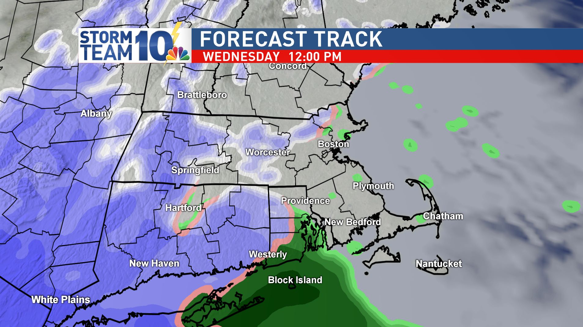 Snow and rain develops between 10am and noon Wednesday