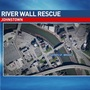 Man injured after apparently falling over wall of Stonycreek River