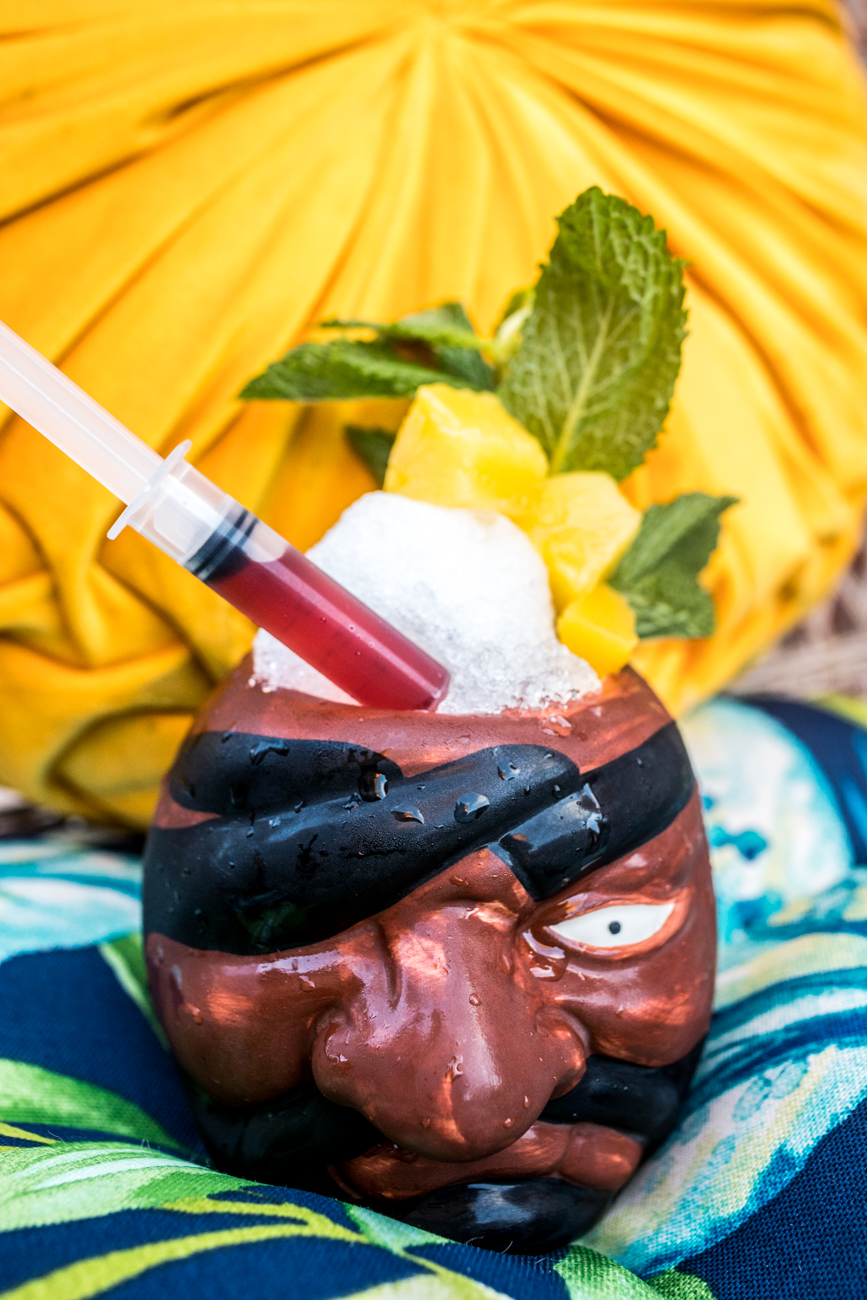 Ransom: spiced rum, dark rum, St. Elizabeth's all spice dram, pineapple, orange, lime, orgeat, and grenadine  / Image: Catherine Viox // Published: 7.30.20