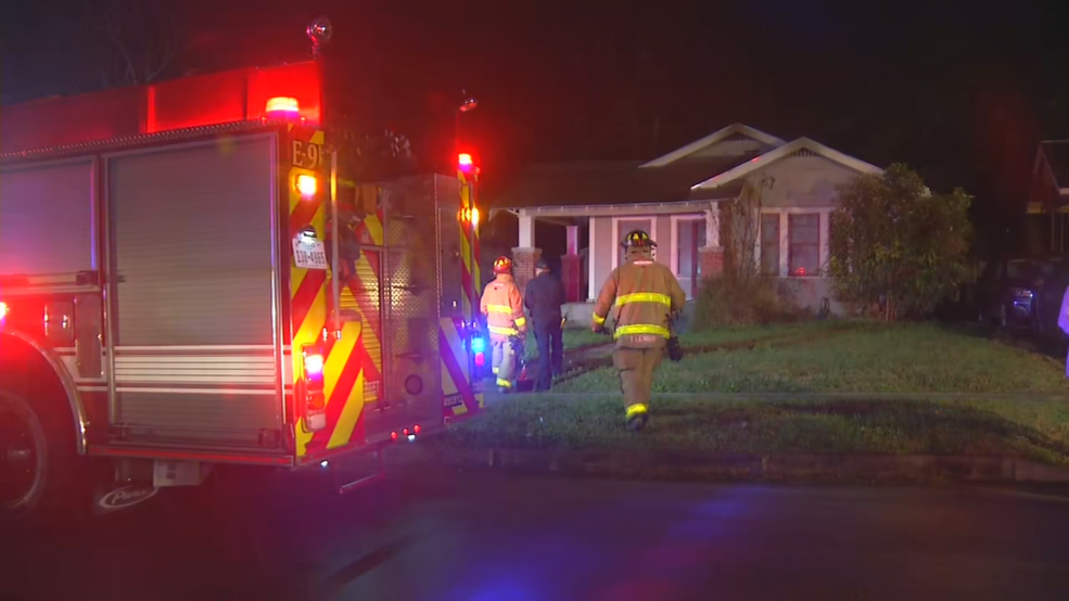 Firefighters put out flames at East Side house