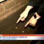 Handles on benches in Lancaster had some residents upset