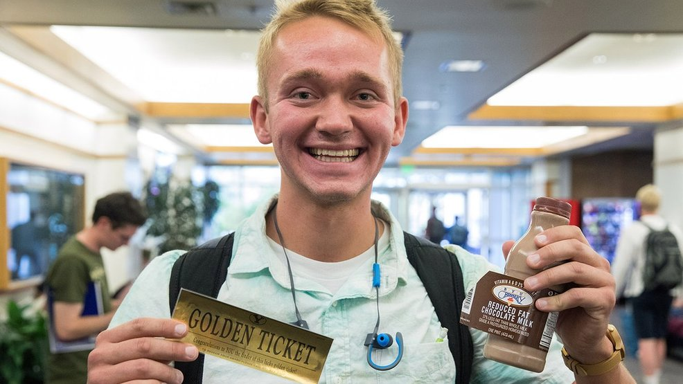 BYU Students Compete In Willy Wonka Style Chocolate Milk Contest