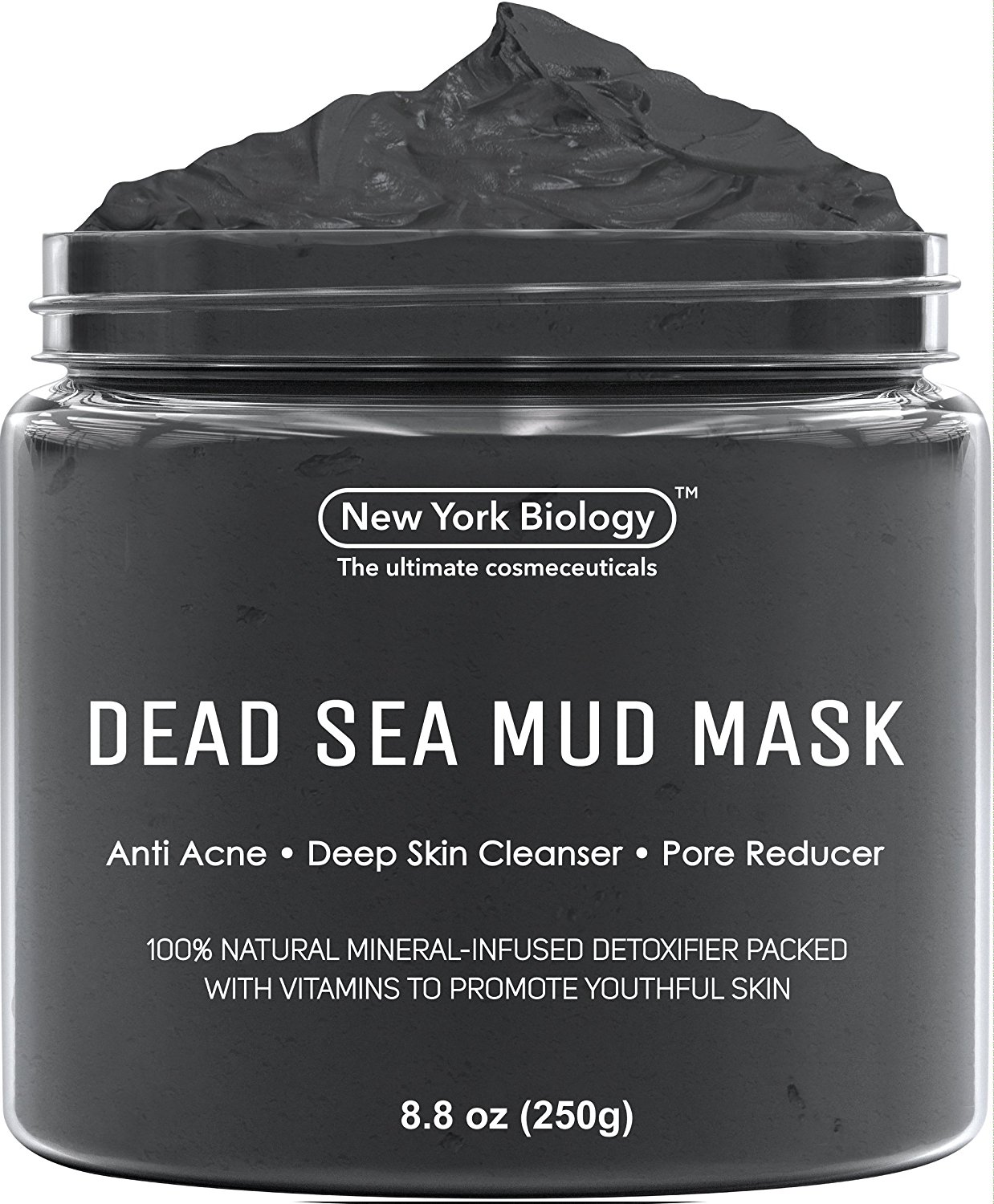 Dead Sea Mud Mask -- Cleanse your face thoroughly, then apply a thin layer of the mask, avoiding the eye and lip area. Leave it on for 10 minutes, then use warm water (and a dark washcloth!) to massage your face and remove the mask, and follow up with your moisturizer. (Image: Courtesy New York Biology)