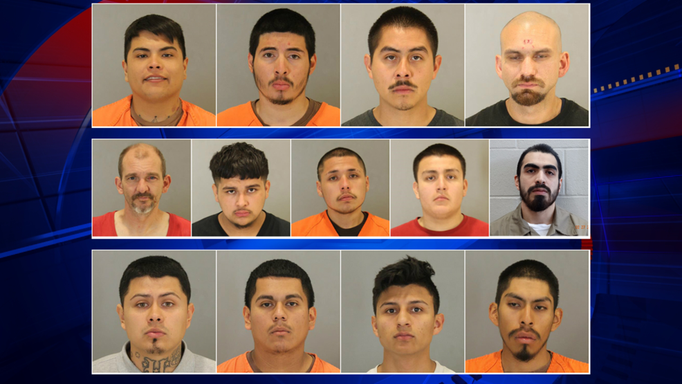 14 gang members arrested 2 more wanted after drug and weapon