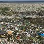 "Dominican Republic: Garbage ""waves"" on beach"