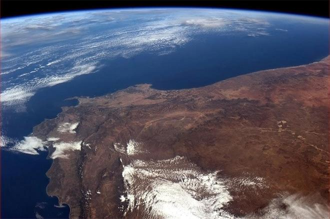 Cape Town, South Africa and the South Atlantic calling to forever.  (Photo & Caption: Col. Chris Hadfield, NASA)