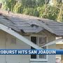 Strong winds topple trees at San Joaquin apartment complex