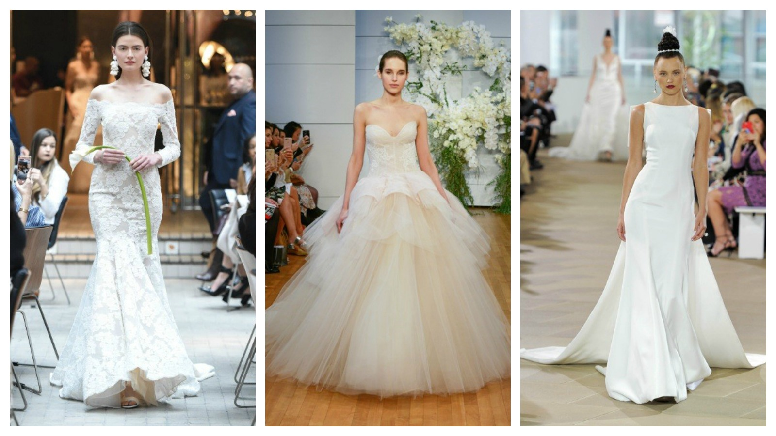 Are you recently engaged and starting to plan your special day? Have you thought about the dress you will be wearing? With the help of Carine Krawiec of Carine's Bridal Atelier in Georgetown, we have rounded up the top 7 bridal trends for spring 2018. Flip through our gallery to find out which trend you will be rocking down the aisle on your wedding day! If you are interested in any of the dresses featured in this post they can all be ordered from Carine's Bridal Atelier (http://www.carinesbridal.com/ ). (Photos: from left to right: Sachin & Babi, Monique Lhuillier, Ines di Santo)