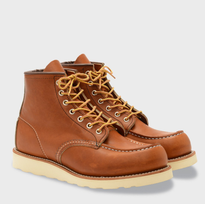 "RED WING 6 INCH CLASSIC MOC BOOT ORO LEGACY ($269.99) After a successful opening in Bellevue in the spring, Wayward recently opened their doors downtown on the corner of 2nd and Pine and we are huge fans of this clothing line, ya'll. It could not be more quintessential PNW/Seattle vibes. Wayward focuses on men's and women's apparel, bags and luggage, and a range of lifestyle accessories that ""cater to explorers and creatives of all sorts."" It's kind of like pieces for the outdoorsy type, who want to be a little bit more, dare I say, fashionable. These our some of our favorite pieces, but please don't forget to check out their website, www.waywardcollective.com. (Image courtesy of waywardcollective.com)"