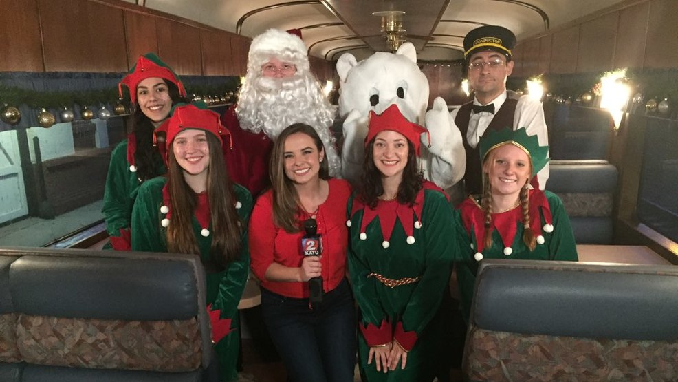 all aboard the train to christmas town