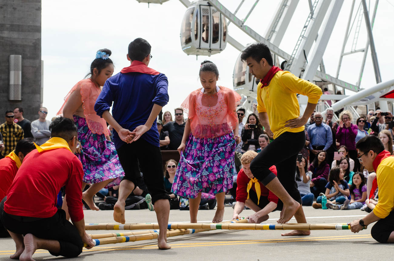 Performers dance at the Asian Food Festival at the Banks. / Image: Kellie Coleman