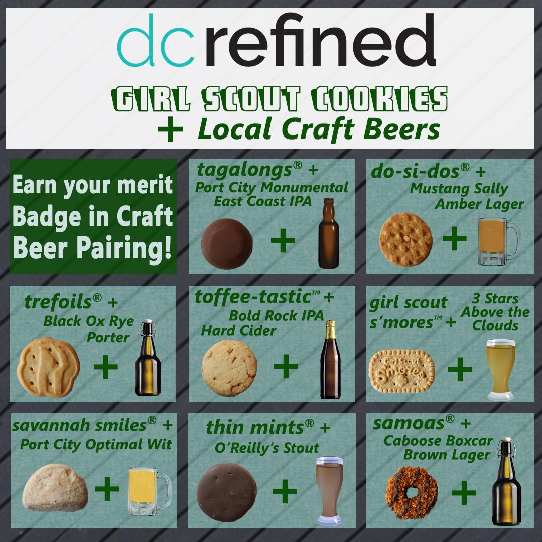 Want to try a pairing at home? Consider this your guide so you can crack open those boxes--and those growlers, bottles or cans--and pour over these cookie and beer pairings! (Graphic: Erin Hood)