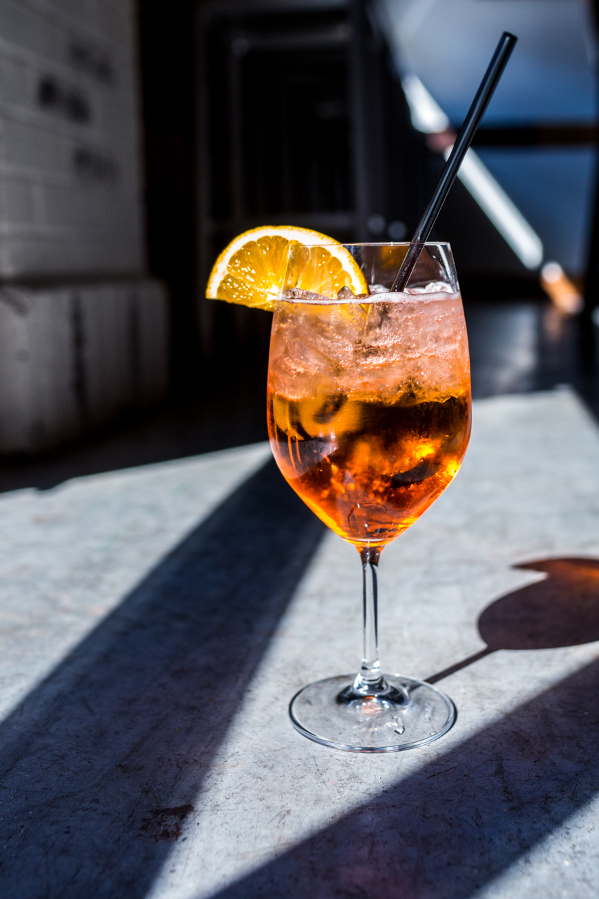 Aperol Spritz: Aperol, La March Prosecco, and soda served with an orange slice / Image: Catherine Viox // Published: 11.10.19