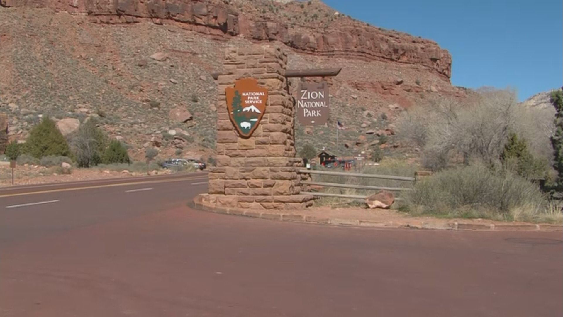 More than 30,000 people crowded into Zion National Park Sunday over Memorial Day weekend as park managers at the iconic red rock landscape work to manage the throngs of visitors. (Photo: KUTV)