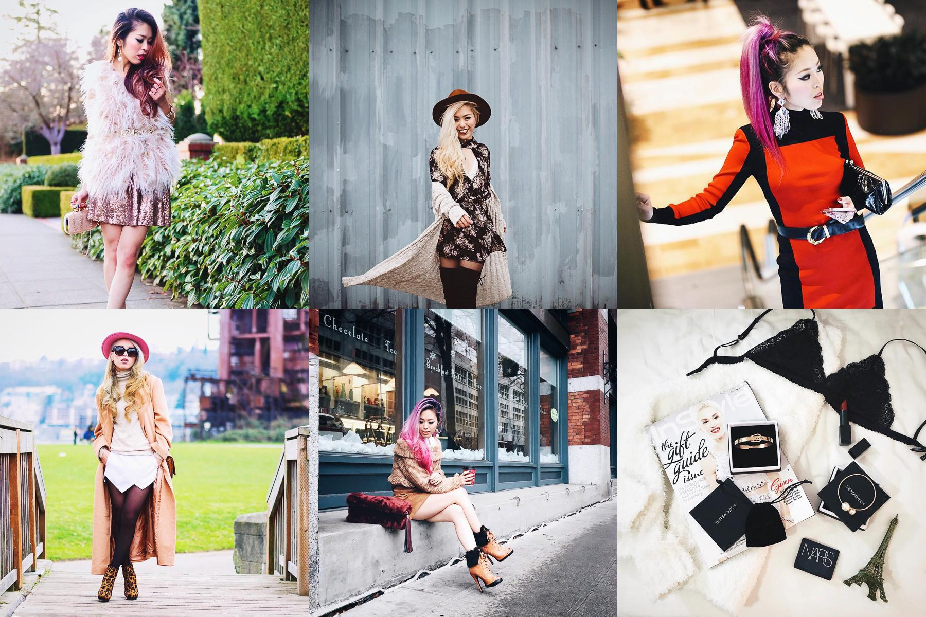 Aika hails from Japan and has been in Seattle since 2008. Her Instagram is filled with amazing photos of her outfits where she always looks great. Pair that with whatever hair color she is currently has and her feed definitely pops. (Images courtesy of @Aikaslovecloset)