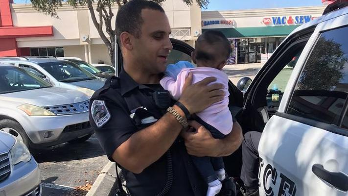 Baby rescued from locked car in Fort Myers. (Fort Myers Police)