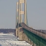 Mackinac Bridge is closed due to falling ice