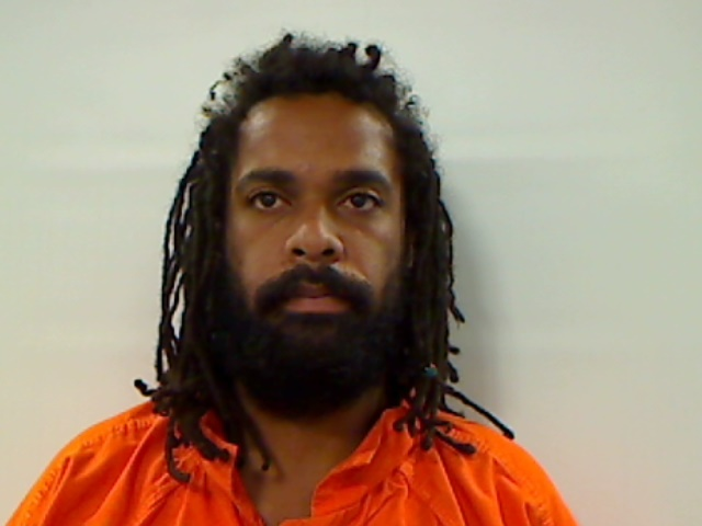 Adrien Sanders was charged with being a fugitive from justice. (Kennebec County Sheriff's Office)