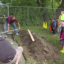 Lowe's Heroes builds sidewalk for local head start program