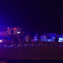 Four car crash shuts down part of I-35