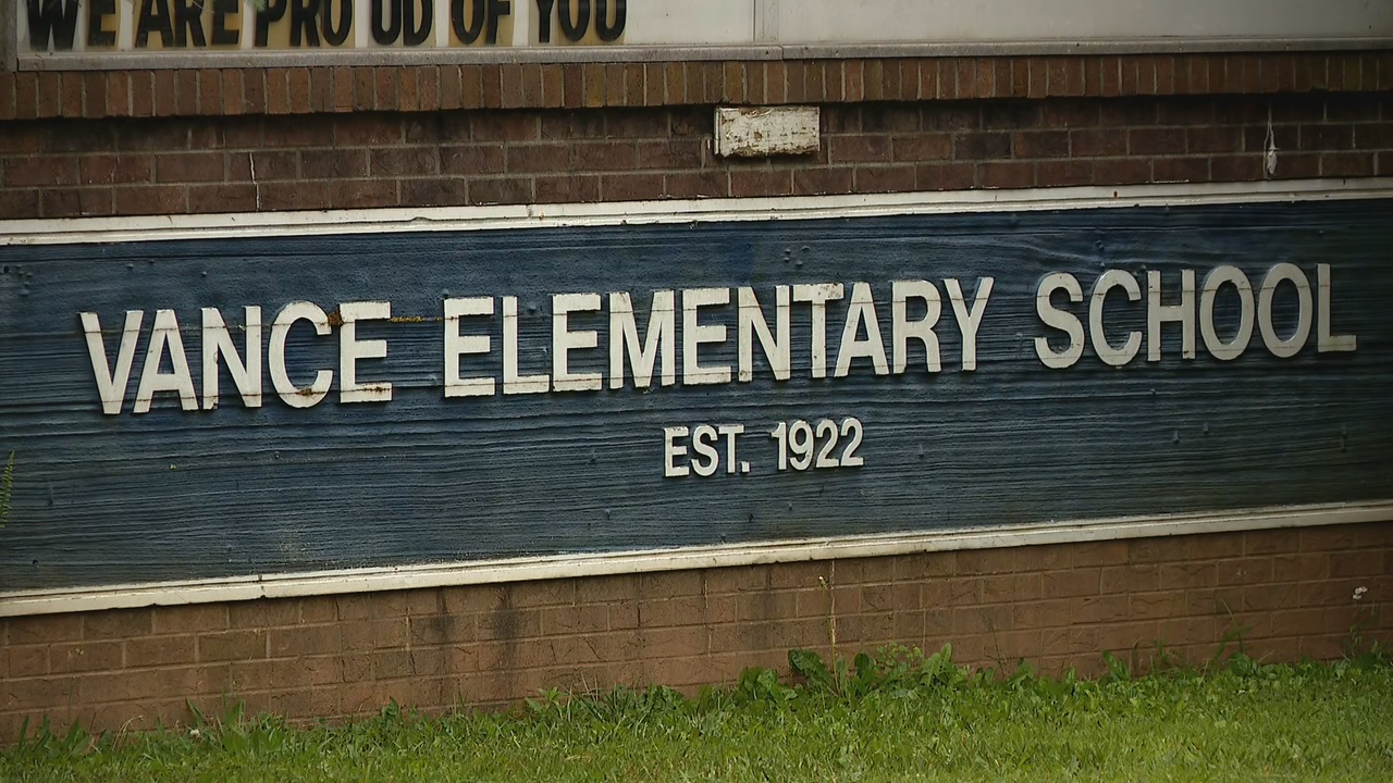 Asheville City Schools Superintended Dr. Gene Freeman says the topic of renaming Vance Elementary School will be on the next school board agenda on June 30, 2020. (Photo credit: WLOS Staff)