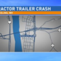 Tractor trailer jacknifed on I-470