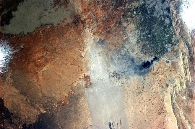 Syria, from a different perspective.  (Photo & Caption: Col. Chris Hadfield, NASA)