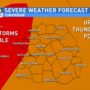 Forecast update: Strong storms possible Sunday morning