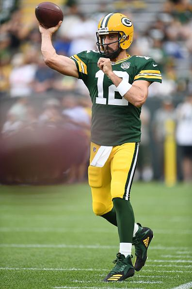 Rodgers is entering his 14th NFL season.{ }