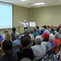 Panhandle residents crowd into town hall meeting, discuss proposed dairy feedlot