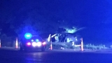 Search for driver after early morning crash takes out a lightpole in KZOO