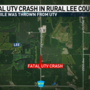 Fatal UTV crash in rural Lee County