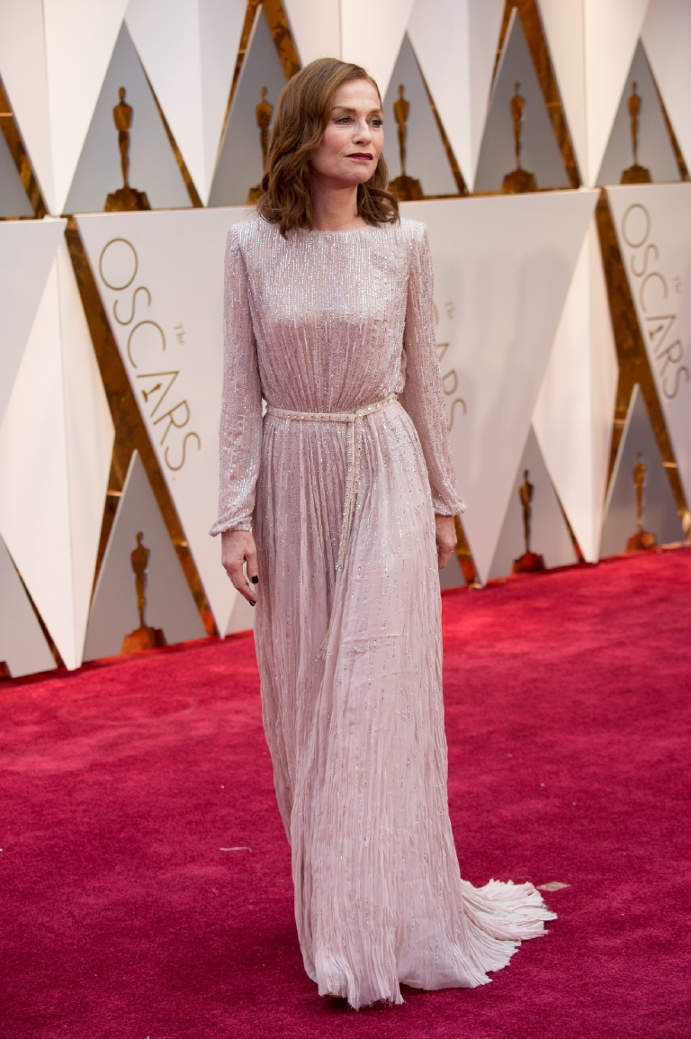 Oscar®-nominee Isabell Huppert arrives at The 89th Oscars® at the Dolby® Theatre in Hollywood, CA on Sunday, February 26, 2017. (Michael Yada / ©A.M.P.A.S.)